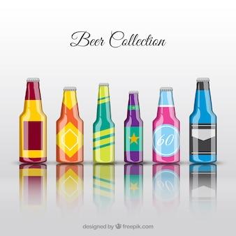 Modern beer bottles
