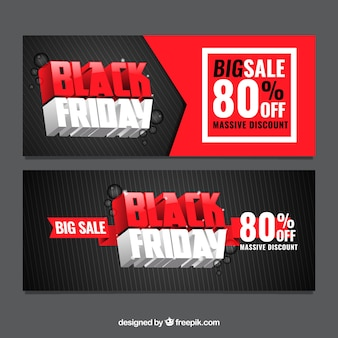 Modern black friday banners