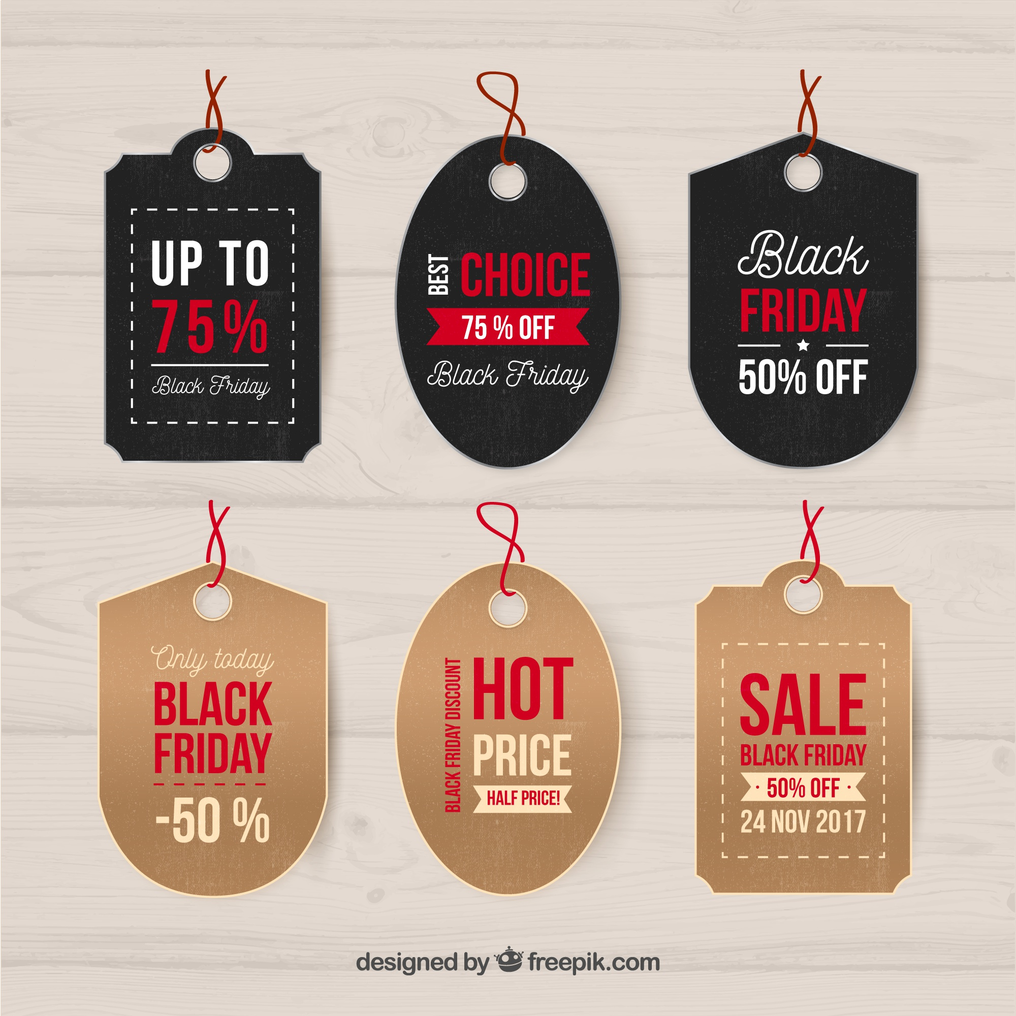 Modern black friday label collection