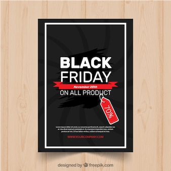 Modern black friday poster template