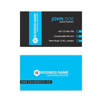 Modern blue artistic business card