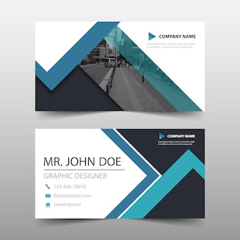 Modern blue business card template design