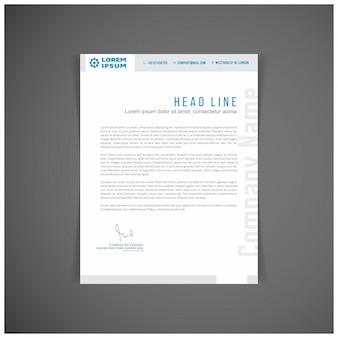 Modern blue business letterhead