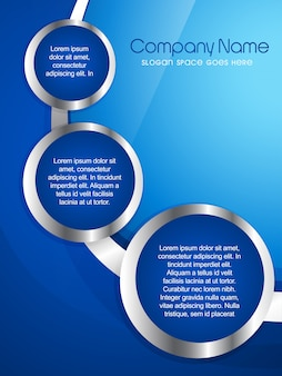 Modern blue company flyer template