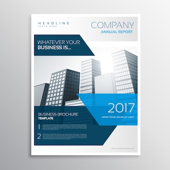 Modern blue corporate business flyer design
