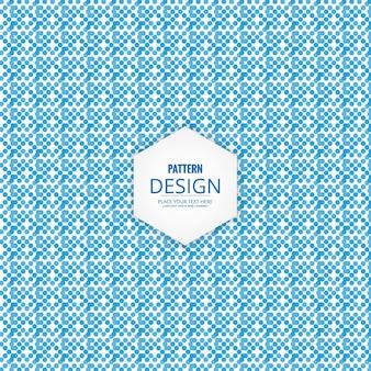 Modern blue dots pattern