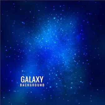 Modern blue galaxy background