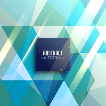 青色の幾何学三角形の抽象的な背景