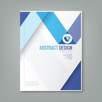 ビジネス年次報告書表紙のパンフレットチラシポスターの抽象ブルーラインのデザイン背景テンプレート