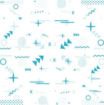 Modern blue memphis background