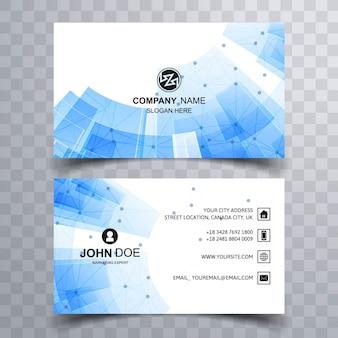 Modern blue technology business card