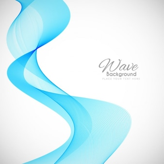 Modern blue wavy background