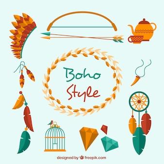 Modern boho style elements