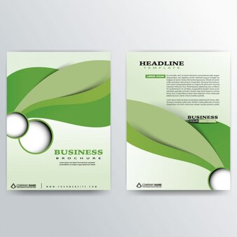 Modern brochure template with abstract leaves
