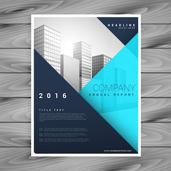 Modern brochure template with blue geometric style