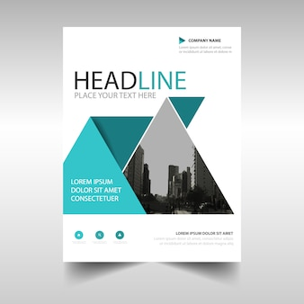 Modern brochure template with triangular shapes