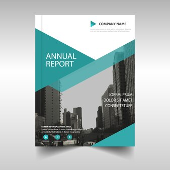 Modern brochure with geometric shapes