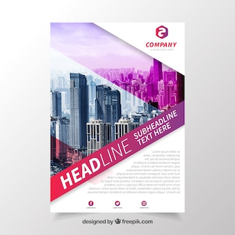 Modern brochure with professional style