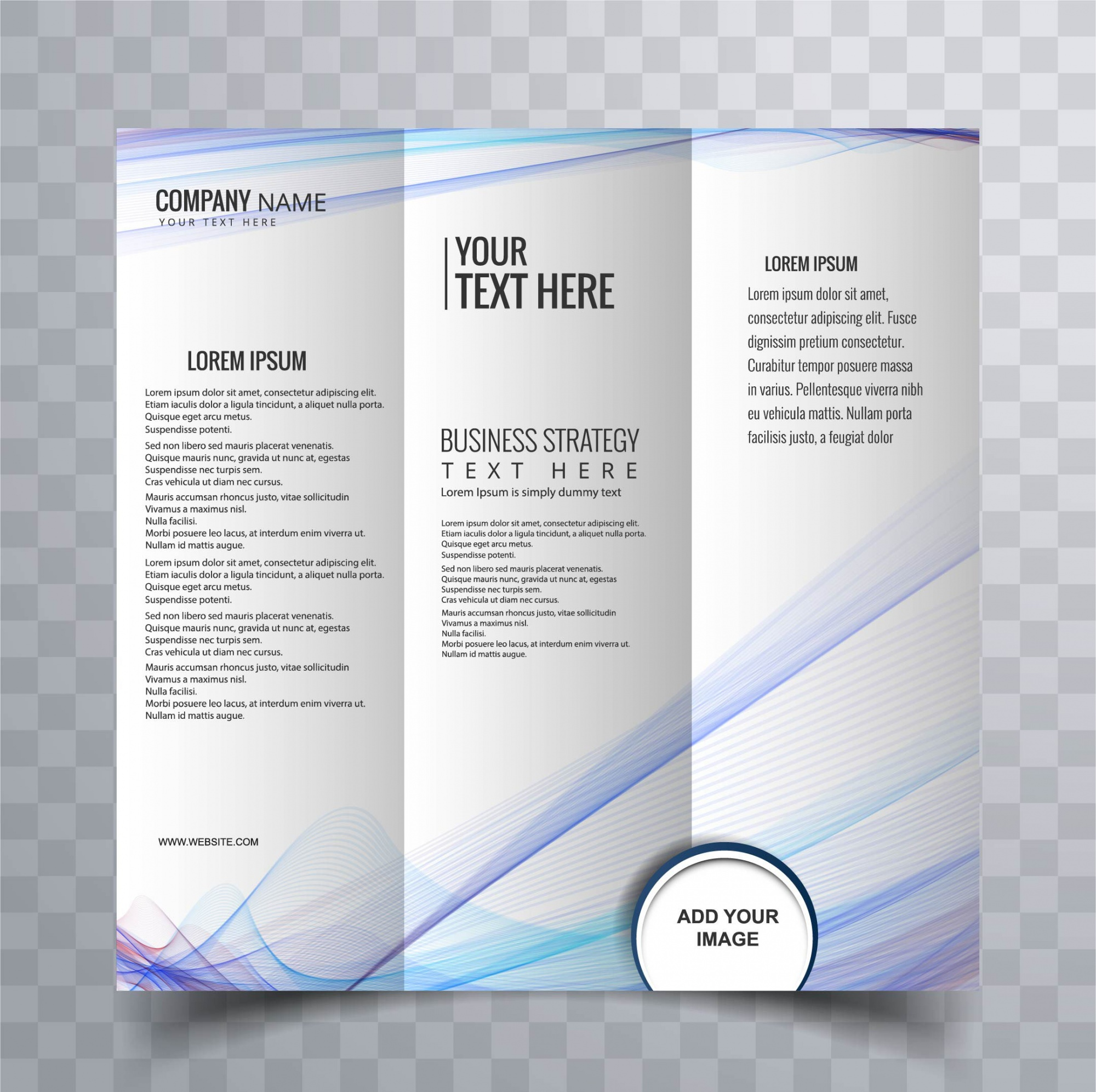 Modern brochure with wavy lines