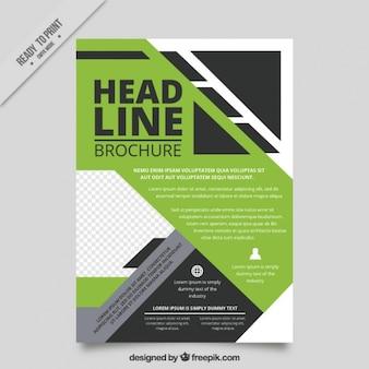 Modern business abstract brochure template
