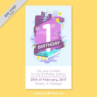 Modern business birthday card