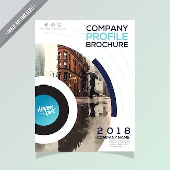 現代のビジネスパンフレットデザイン