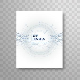 Modern business brochure in technology style