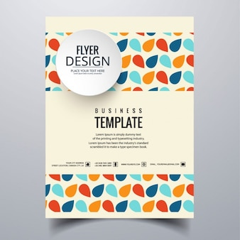 Modern business brochure of colored shapes