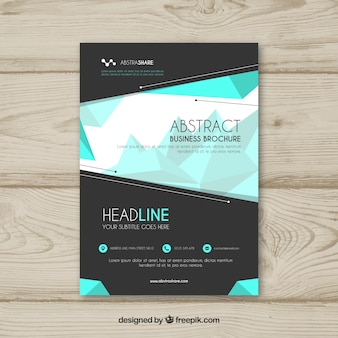 Modern business brochure with geometric background