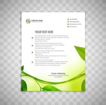 Modern business brochure with leaf design
