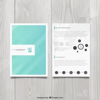 現代のビジネスのパンフレット