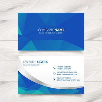 Modern business card design in triangle patterns
