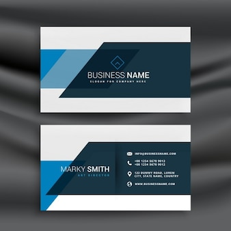 Modern business card in abstract style