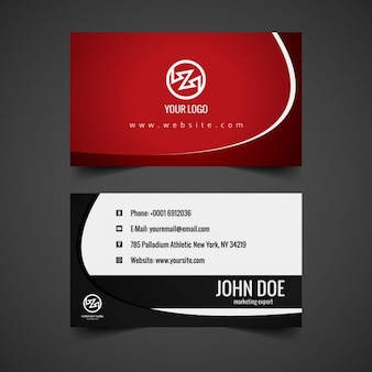 Modern business card in garnet color
