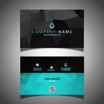 Modern business card in low poly style