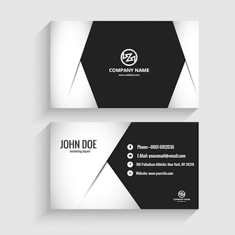 Modern business card in monochromatic style