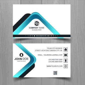 Modern business card with abstract shapes