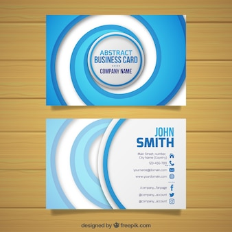Modern business card with abstract style