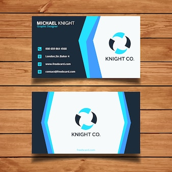 Modern business card with blue tones