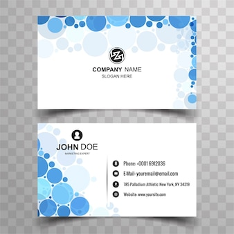 Modern business card  with circle design