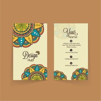 Modern business card with colorful mandala