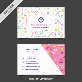 Modern business card with original shapes