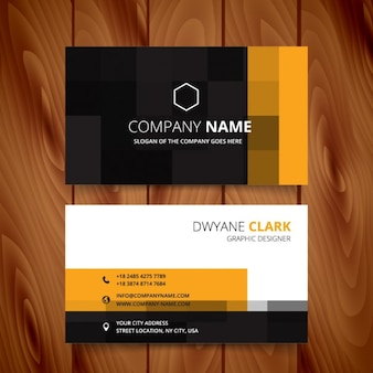 Modern business card with pixelated style