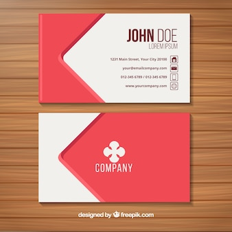 Modern business card with red style