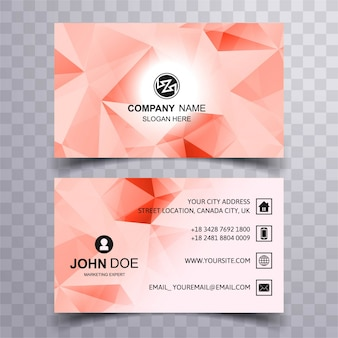 Modern business card with soft polygonal shapes
