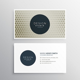 Modern business card with triangles