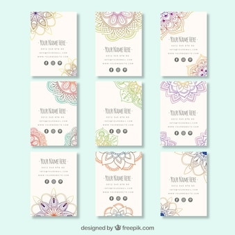 Modern business cards with ethnic style