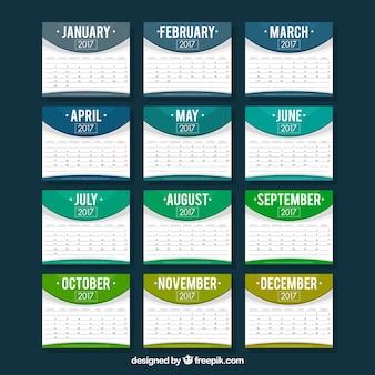 Modern calendar of 2017