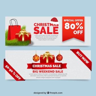 Modern christmas sale banners