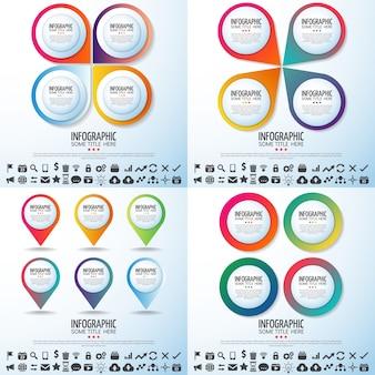 Modern circle background finance business chart